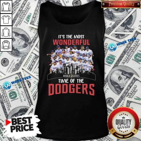 It's The Most Wonderful World Series 2020 Time Of Dodgers Signatures Tank-Top- Design by Waretees.com