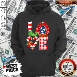 Official Love Flag Of Tennessee State Christmas Hoodie - Design by Waretees.com