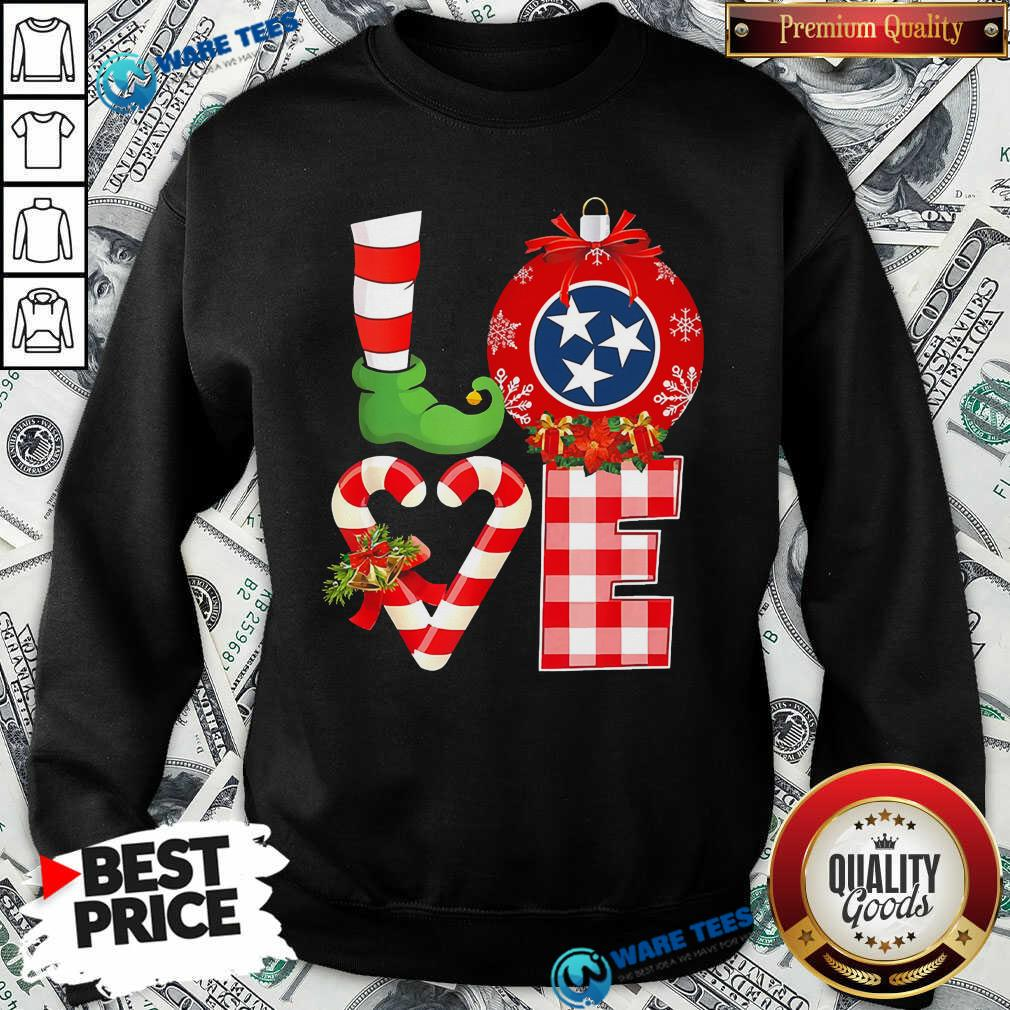 Official Love Flag Of Tennessee State Christmas Sweatshirt - Design by Waretees.com