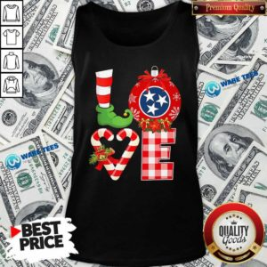 Official Love Flag Of Tennessee State Christmas Tank Top - Design by Waretees.com