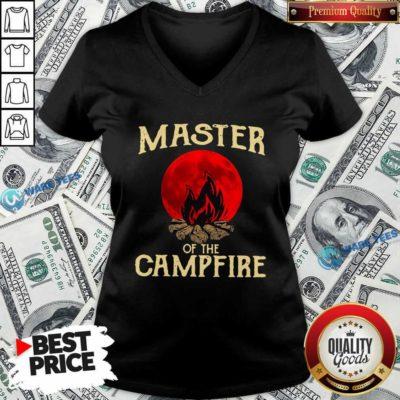 Master Of The Campfire V-neck- Design by Waretees.com