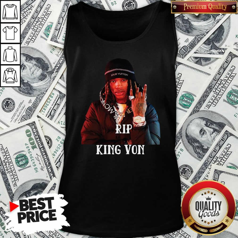 Official Rip King Von Tank Top - Design by Waretees.com