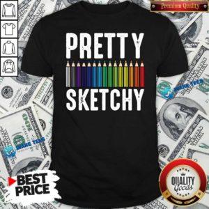 Sketchy Color Pencils Painter Artist Shirt- Design by Waretees.com