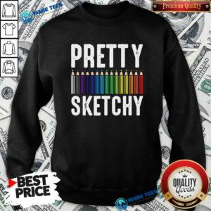 Sketchy Color Pencils Painter Artist Sweatshirt- Design by Waretees.com