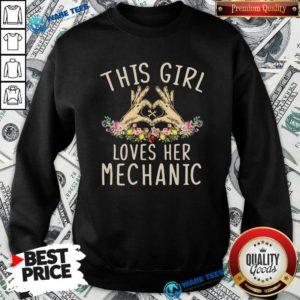 This Girl Loves Her Mechanic Vintage Sweatshirt- Design by Waretees.com