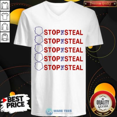 Official Trump Stop The Steal V-neck - Design by Waretees.com
