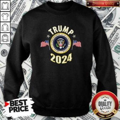 Origimal Trump 2024 Presidential Seal Flag Sweatshirt - Design by Waretees.com