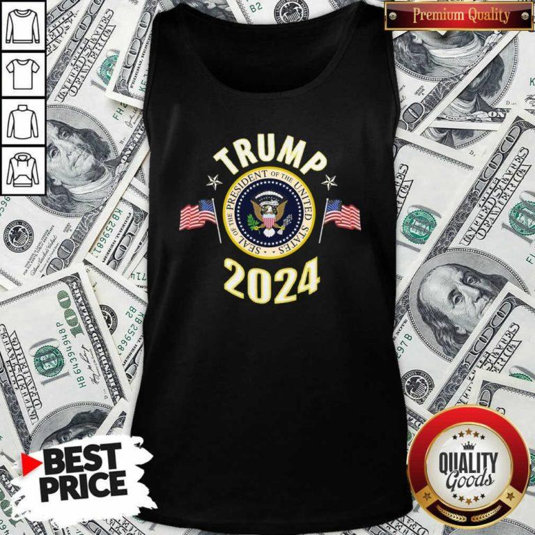 Origimal Trump 2024 Presidential Seal Flag Tank Top - Design by Waretees.com