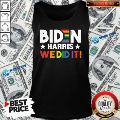Original Biden Harris We Did It LGBT Tank Top - Design by Waretees.com
