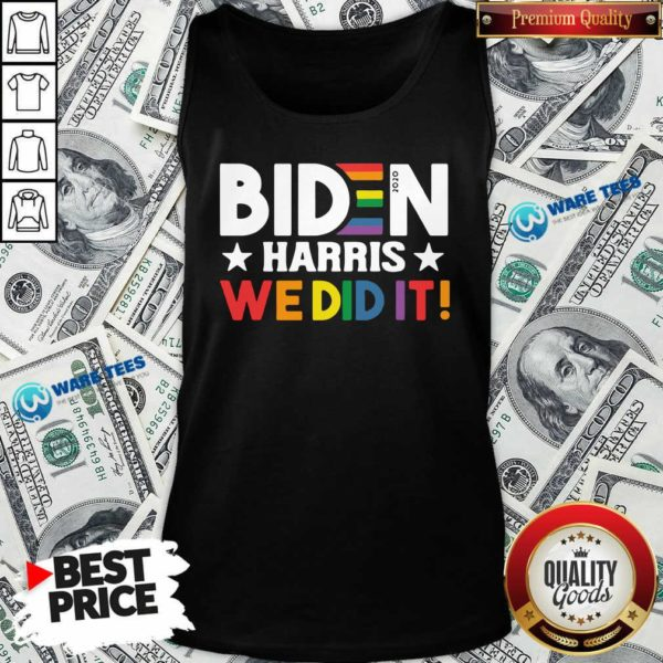Original Biden Harris We Did It LGBT Tank Top - Design by Waretees.com