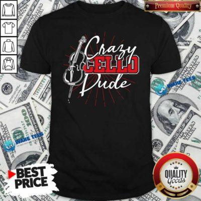 Crafy Cello Pude Shirt- Design by Waretees.com