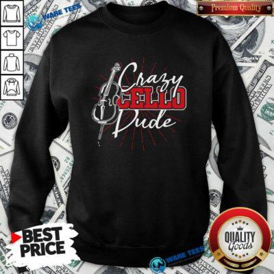 Crafy Cello Pude Sweatshirt- Design by Waretees.com