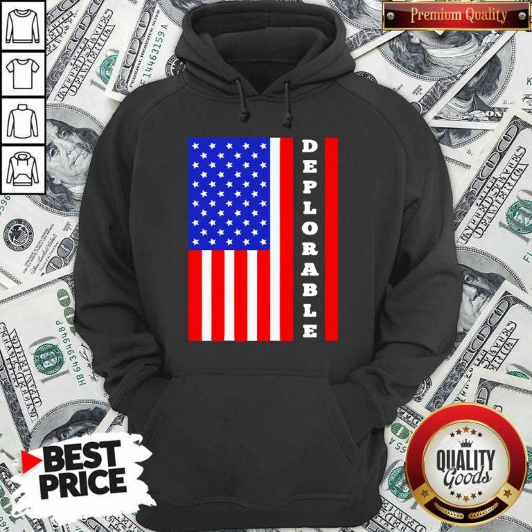 Deplorable American Flag Hoodie - Design By Waretees.com
