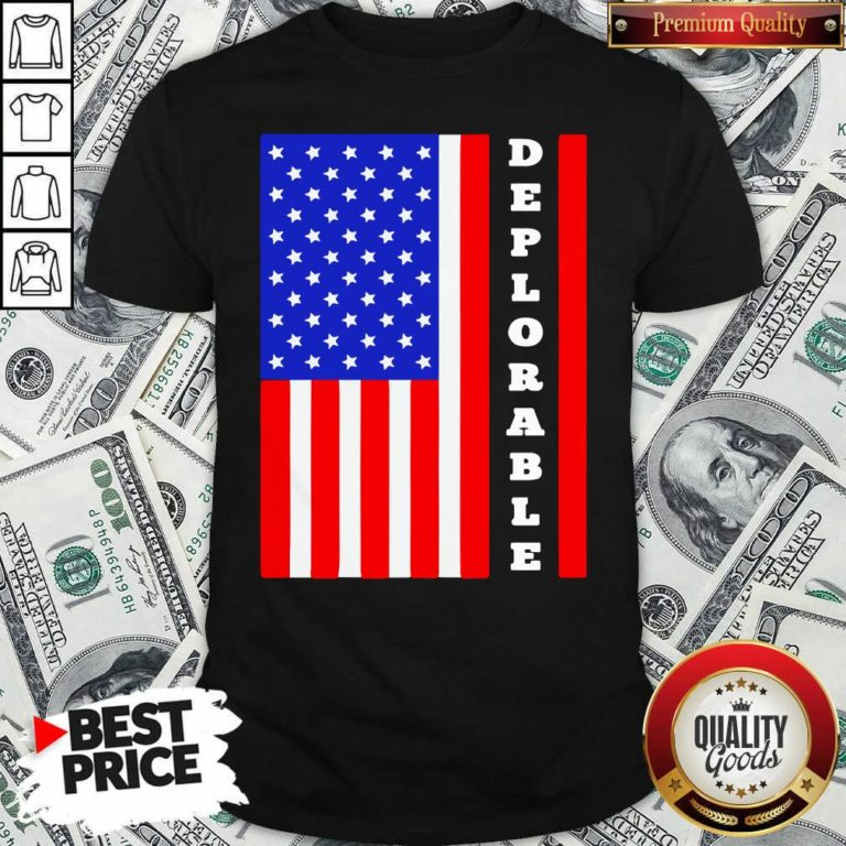 Deplorable American Flag Shirt - Design By Waretees.com