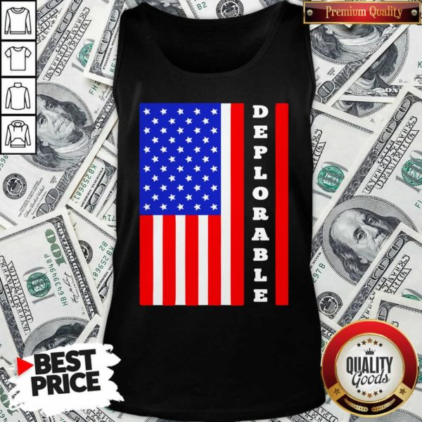 Deplorable American Flag Tank Top - Design By Waretees.com