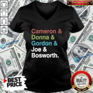 Halt And Catch Fire Cast Names Cameron Joe Donna Gordon Graphic V-neck- Design By Waretees.com