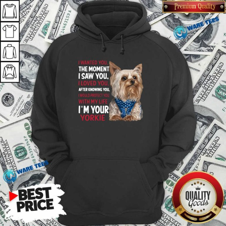 I Wanted You I Loved You I Would Protect You With My Life Yorkie Hoodie Design By Waretees.com