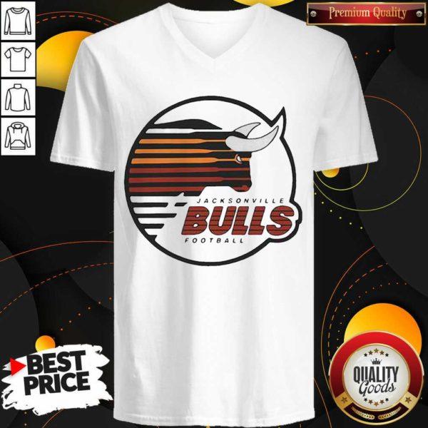 Original Jacksonville Bulls Football V-neck- Design by Waretees.com