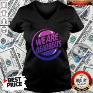 Kt8 Merch Zeds Dead Deadbeats Beyond Beats V-neck- Design by Waretees.com