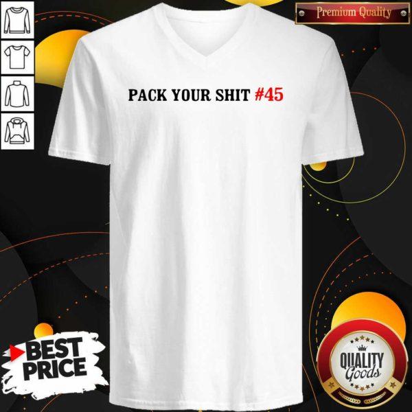 Original Pack Your Shit 45 V-neck - Design by Waretees.com
