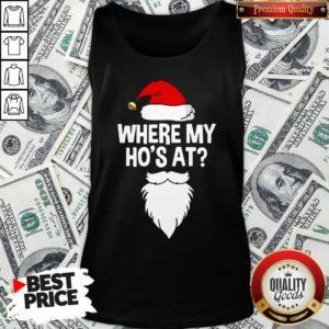 Santa Where My Ho's At Christmas Tank Top - Design By Waretees.com