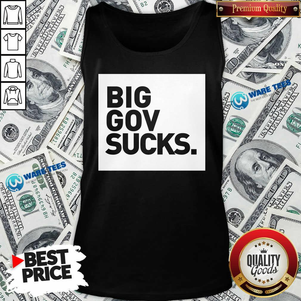 Big Gov Sucks Tank-Top- Design by Waretees.com