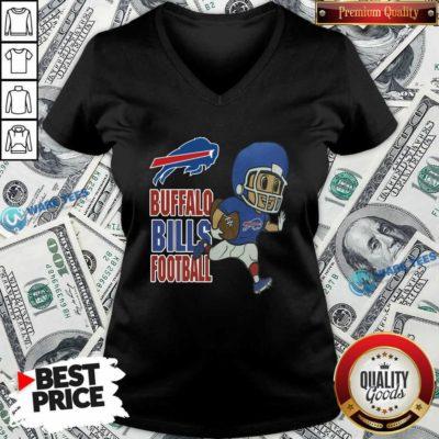 Buffalo Bills Football V-neck- Design by Waretees.com