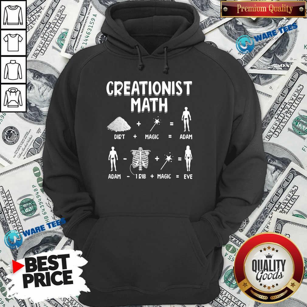 Creationist Math Dirth Plus Magic Equal Adam Hoodie- Design by Waretees.com