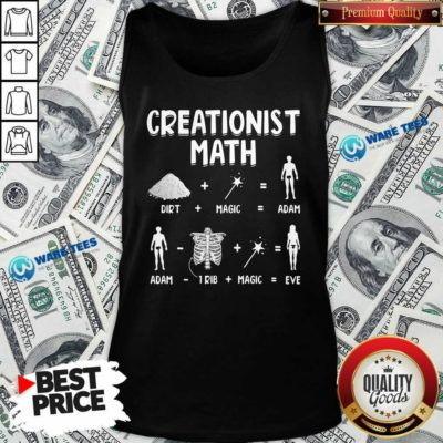 Creationist Math Dirth Plus Magic Equal Adam Tank-Top- Design by Waretees.com