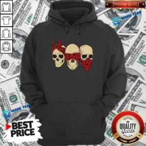 Hear See Speak No Evil Skull Heads Hoodie- Design by Waretees.com