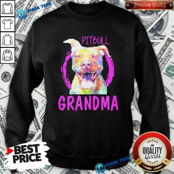 Pitbull Grandma Sweatshirt- Design by Waretees.com