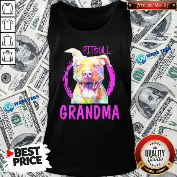 Pitbull Grandma Tank-Top- Design by Waretees.com