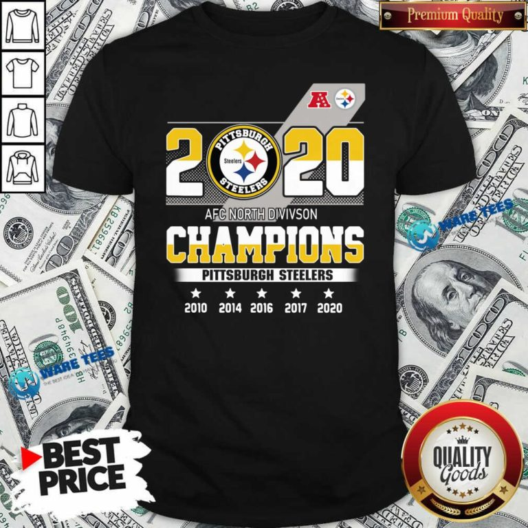 Pittsburgh Steelers Afc North Division Champions 2010 2020 Shirt- Design By Waretees.com