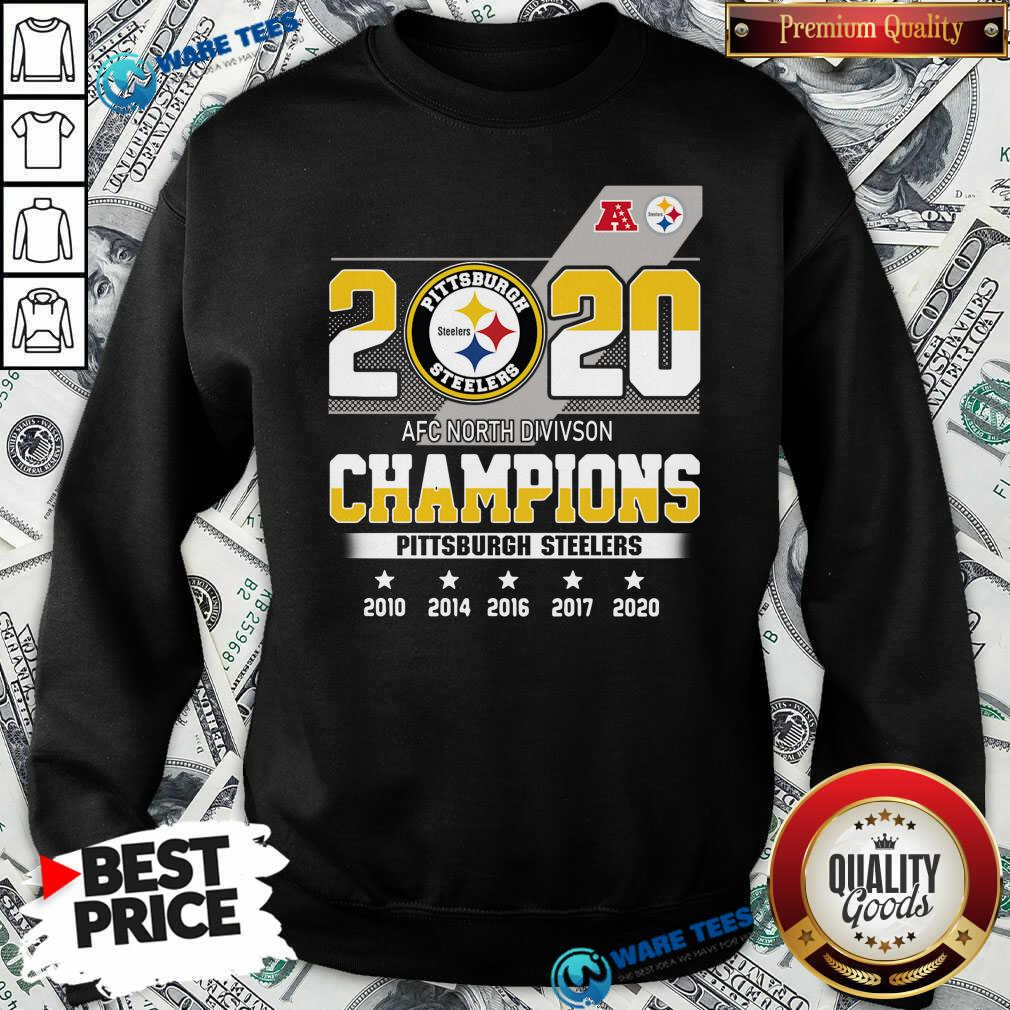 Pittsburgh Steelers Afc North Division Champions 2010 2020 Sweatshirt- Design By Waretees.com