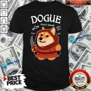 Dogue Wow Much Sneak Very Dex Knif Lol Corgi Shirt- Design by Waretees.com