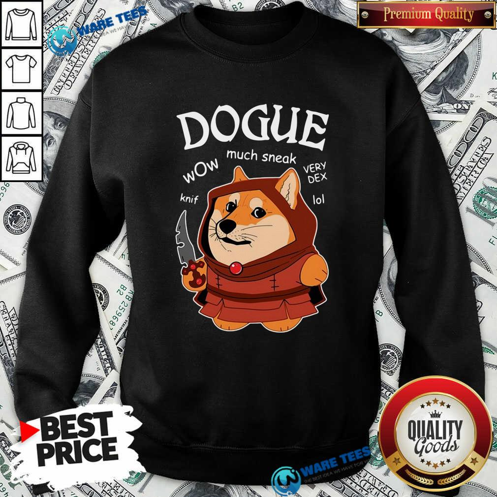 Dogue Wow Much Sneak Very Dex Knif Lol Corgi Sweatshirt- Design by Waretees.com