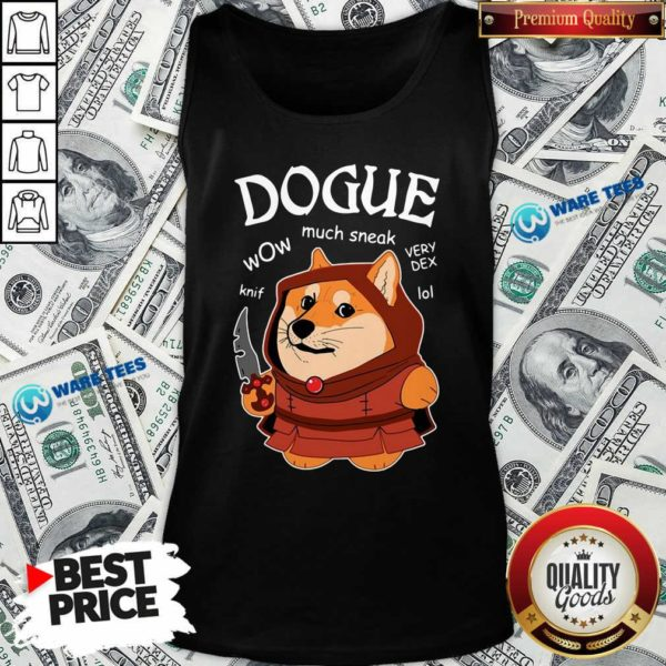 Dogue Wow Much Sneak Very Dex Knif Lol Corgi Tank-Top- Design by Waretees.com
