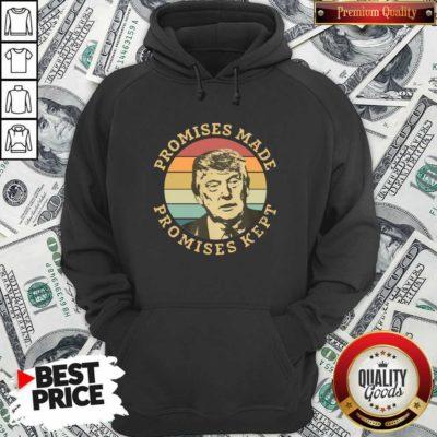 Premium Donald Trump Promises Made Promises Kept Vintage Retro Hoodie - Design by Waretees.com