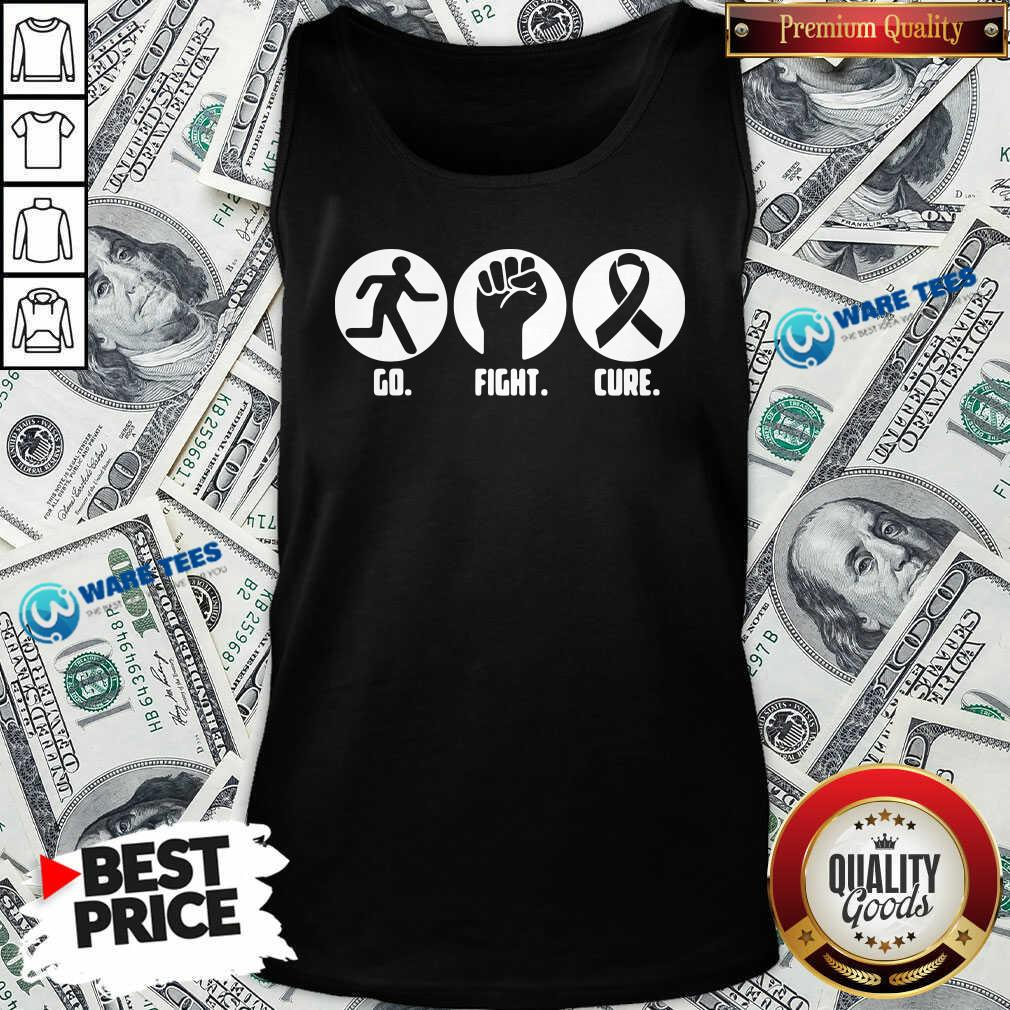 Go Fight Cure Breast Cancer Awareness Month Tank-Top- Design By Waretees.com