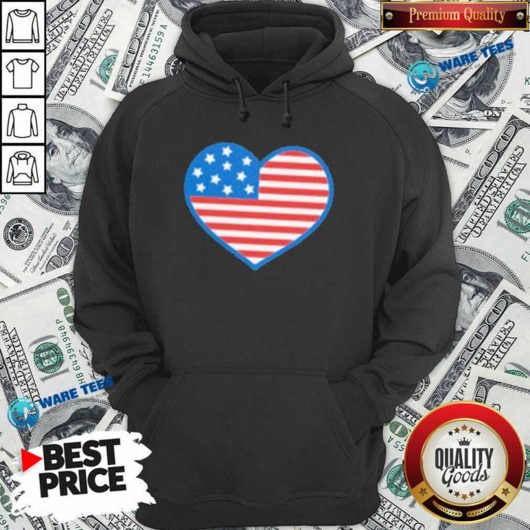 Heart American Flag 2021 Hoodie- Design by Waretees.com