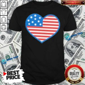 Heart American Flag 2021 Shirt- Design by Waretees.com