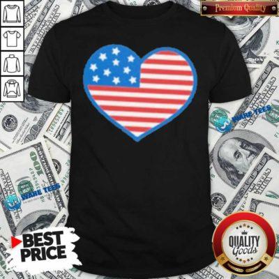Heart American Flag 2021 Shirt- Design by Waretees.com