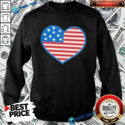 Heart American Flag 2021 Sweatshirt- Design by Waretees.com