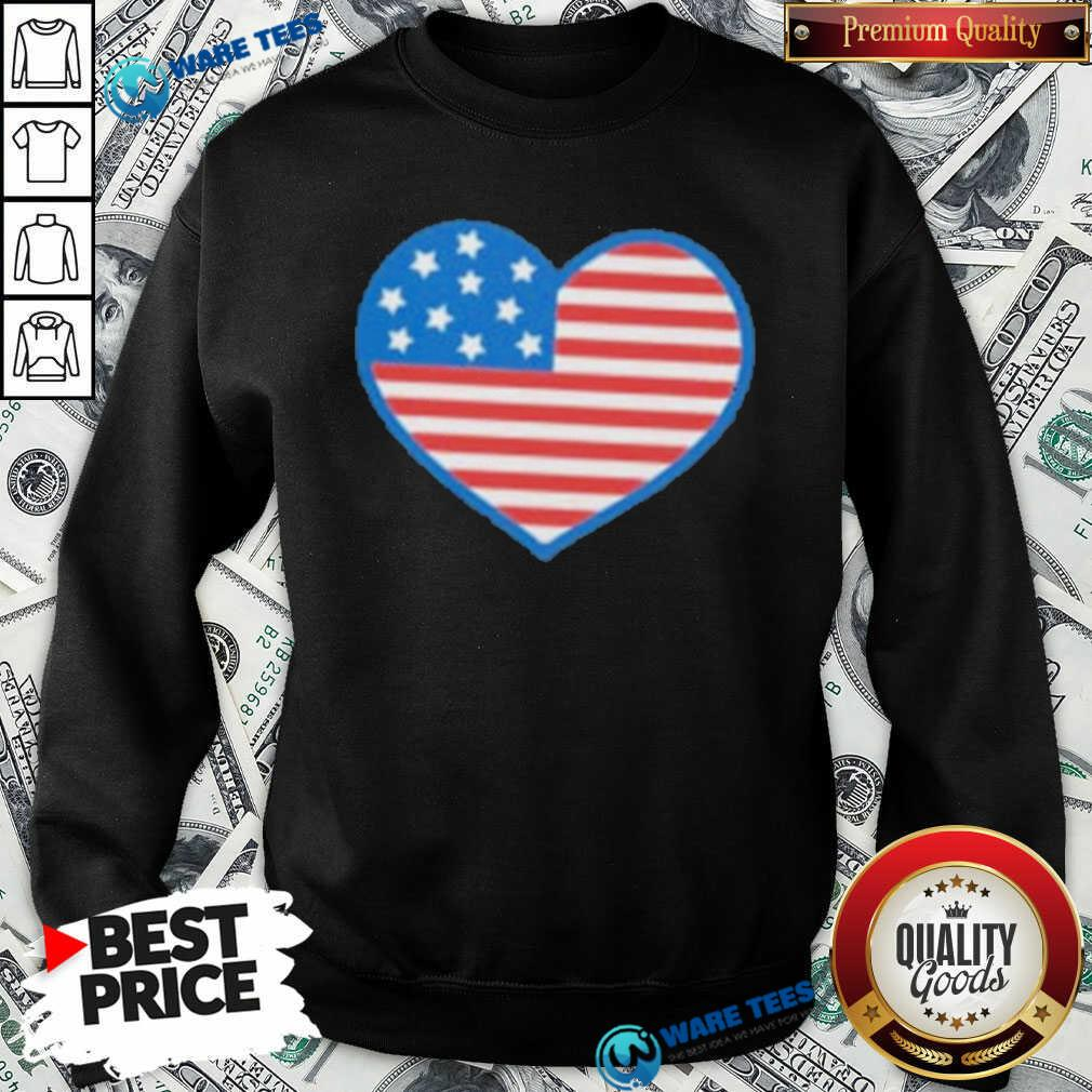 Heart American Flag 2021 Sweatshirt- Design by Waretees.com