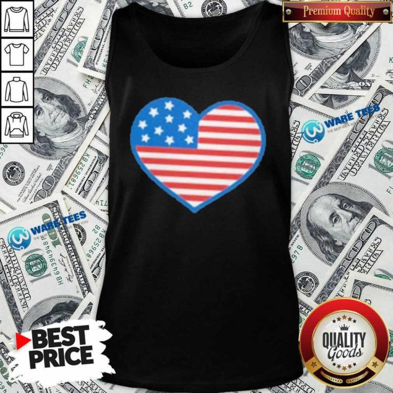 Heart American Flag 2021 Tank-Top- Design by Waretees.com