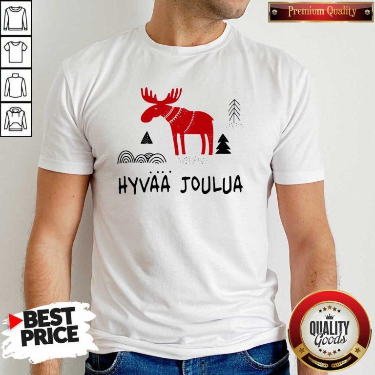 Premium Hyvaa Joulua Merry Christmas Shirt - Design by Waretees.com