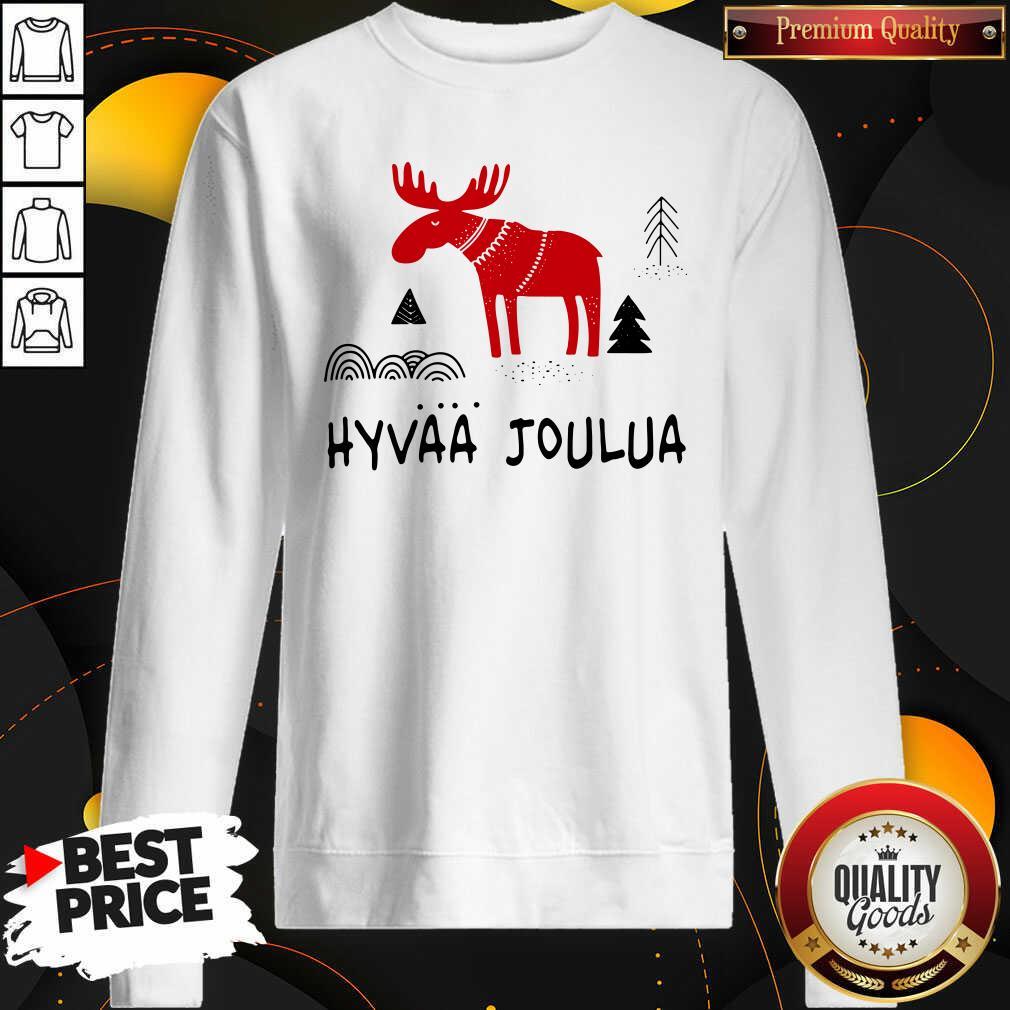 Premium Hyvaa Joulua Merry Christmas Sweatshirt - Design by Waretees.com
