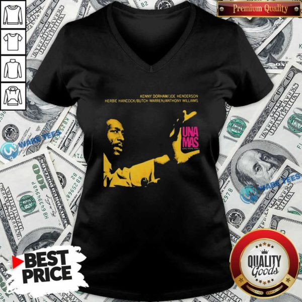 Jazz Album Cover Artwork Reproduction Kenny Dorham Trumpet Player Afro American Artist Band V-neck- Design by Waretees.com