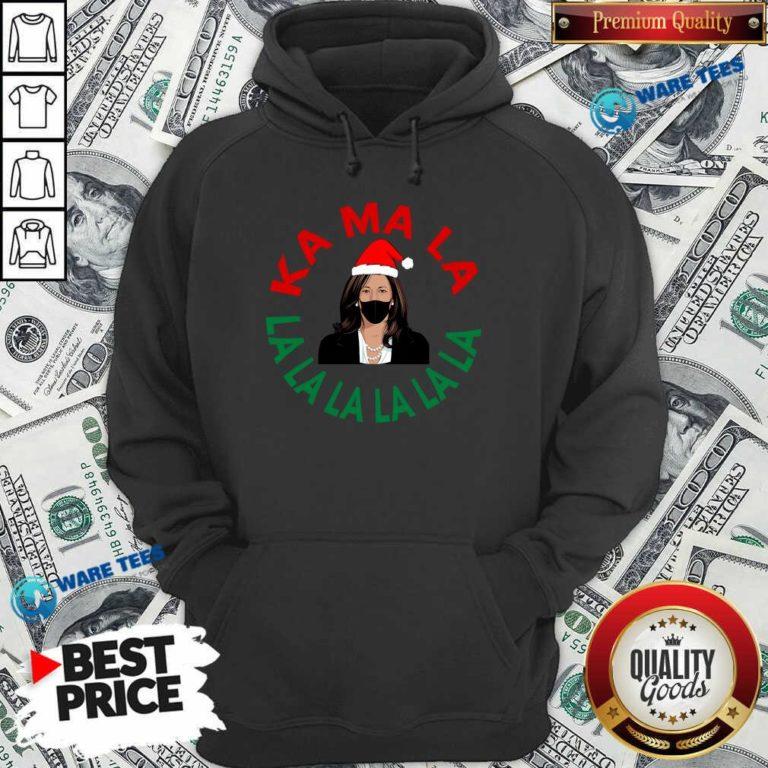 Kamala Momala Kamala Harris Mask Christmas Hoodie- Design by Waretees.com