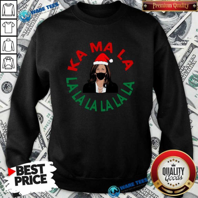 Kamala Momala Kamala Harris Mask Christmas Sweatshirt- Design by Waretees.com